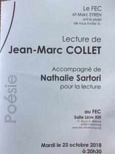 Poésie @ Jean-Marc COLLET @ Salle Léon XIII