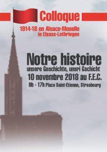 Colloque 1914-18 en Alsace-Moselle, notre histoire @ Salle Léon XIII