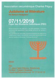 Judaïsme et littérature - « Chronique de ma rue » @ Salle Léon XIII