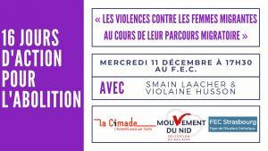 Les violences contre les femmes migrantes lors de leur parcours @ Salle Léon XIII
