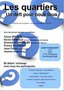 Les quartiers : enjeu démocratique et défi social - Jeunes en politique @ EuroStudentCafé