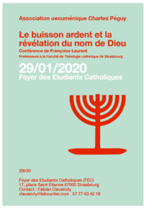 Conférence : Le buisson ardent et la révélation du nom de Dieu @ Salle Léon XIII